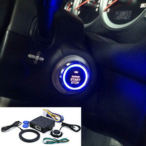 Car Alarm System Smart Keyless Entry Engine RFID Lock Push Start Button Remote