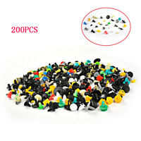 200PCS Mixed Car Door Trim Panel Clip Fasteners Bumper Rivet Retainer Push Pins