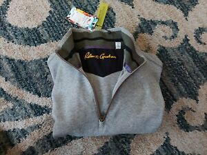 New Robert Graham Elliot Pullover Sweatshirt Men's Size L 1/4 Zip Classic Fit