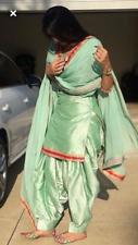 punjabi patiala silk suit indian salwar kameez bollywood stitched ready wear XL