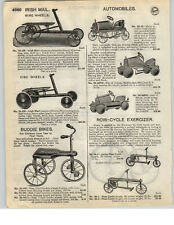 1926 PAPER AD Wire Disc Wheel Irish Mail Row Cycle Pedal Car