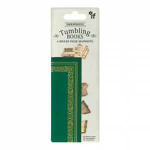 Tumbling Books Brass Page Marker