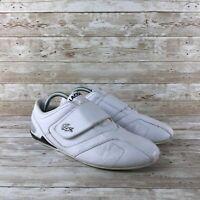 Lacoste Futur 3 SPM Mens Size 8 White Leather Strap Fashion Sneakers