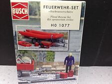 HO 1/87 Busch # 1077 Flood Rescue Set Diorama Scene Set