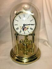 Vintage German Anniversary Clock Battery Operated Plastic Dome