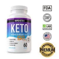 Ultra Fast Pure Keto BHB Weight Loss Diet Pills Rapid Keto Ketogenic Supplement