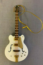 VINTAGE STYLE LARGE WHITE ELECTRIC GUITAR INSTRUMENT ORNAMENT 4
