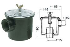 "Raw Water Utility Strainer Intake Filter, 1.5"" Thread 300 LITRES per Min. Boat"