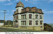 postcard USA   Nevada  Virginia City  Old Fourth Ward School  unposted