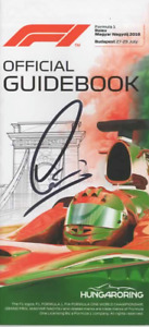 Lewis Hamilton hand signed official Guidebook GPHungary 2018.