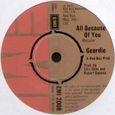 """GEORDIE ~ ALL BECAUSE OF YOU / AIN'T IT JUST LIKE A WOMAN ~ 1973 UK 7"""" SINGLE"""
