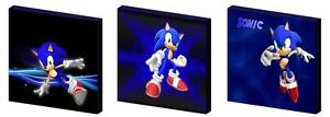 SONIC THE HEDGEHOG - CANVAS ART BLOCKS/ WALL ART PLAQUES/PICTURES