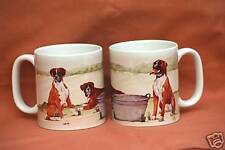 BOXER DOG MUG OFF TO THE DOG SHOW WATERCOLOUR PRINT SANDRA COEN ARTIST