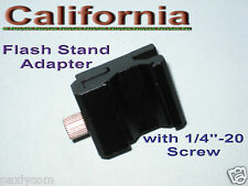 "Hot Shoe Flash Stand Adapter with 1/4""- 20 Tripod screw"