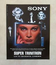 E691 - Advertising Pubblicità -1996- TV SONY SUPER TRINITRON