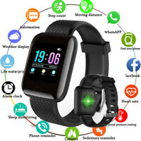 Smart Watch Blood Pressure Oxygen Heart Rate Monitor Fitness Activity Tracker