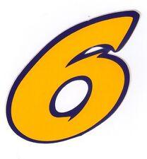 lot de 3 adhesif autocollant stiker numero chiffre moto scoot quad course N°6 JB
