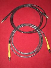 ANALYSIS PLUS COPPER OVAL MICRO INTERCONNECTS *2 METER PAIR* W/RCAs *$500*