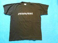 T-Shirt FRANKFURT schwarz Größe L KULT altdeutsch OLDSCHOOL