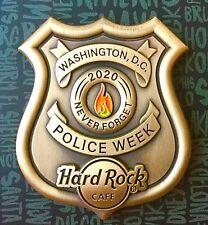2020 HARD ROCK CAFE WASHINGTON DC 3D POLICE WEEK NEVER FORGET BADGE LE PIN