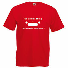 MINI Cooper rover austin dad classic retro funny car t shirt classic new tee