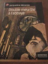 Jacqueline Mirande: Double meurtre à l'abbaye/ Castor Poche Flammarion