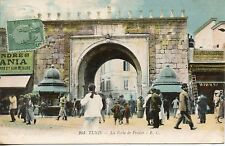 CARTE POSTALE / TUNISIE TUNIS LA PORTE DE FRANCE