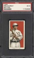 Rare 1909-11 T206 Red Murray Batting Piedmont 350 New York PSA 5 EX