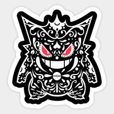 Pokemon Gengar Skull Decal Decor Car Bumper Laptop Vinyl Sticker