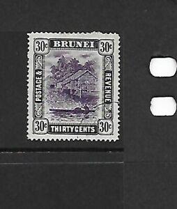 Brunei 1907/10 30c Violet & Black FU