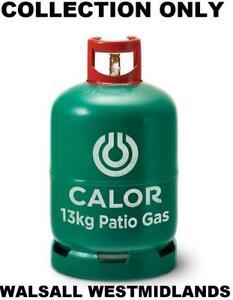 FULL NEW 13 KG 13KG BBQ PATIO CALOR LPG PROPANE GAS BOTTLE 27 MM 27MM REFILL
