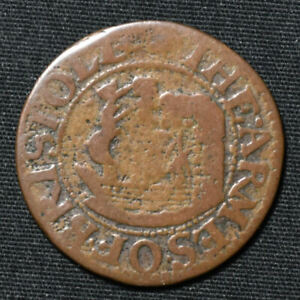 1662R Gloucestershire W.18, Bristol, City Issue, Farthing Token