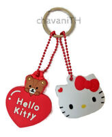 HELLO KITTY Heart Silicone Key Cap Cover Keychain