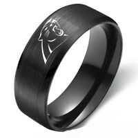 Carolina Panthers Football NFL Team Rings Stainless Steel Mens Band Size 6-13
