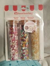 American Crafts Sweet Tooth Factory, Fancy Sprinkle Noel Mix, 3 Piece, Brand New