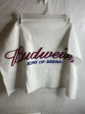 Vintage New Budweiser Golf Towel Metal Connector Red White Blue