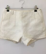 Valleygirl White Patterned Shorts Size 8