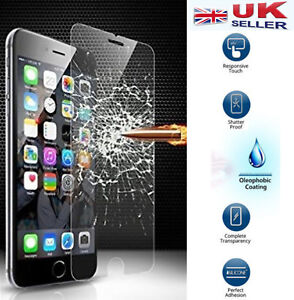 """GENUINE TEMPERED GLASS FILM SCREEN PROTECTOR FOR APPLE IPHONE 6 4.7""""-UK Seller"""