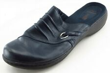 Clarks Size 9 M Blue Mule Leather Women Shoes