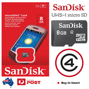 SanDisk Class 4 UHS-I 8GB Micro SD SDHC TF Memory Card Retail Package