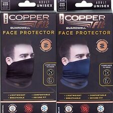 Copper Fit Guardwell Face Protector Mask | Charcoal or Blue | Reusable |