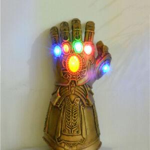 Thanos Infinity Gauntlet LED Light Gloves Cosplay War Marvel Avengers Adult Size