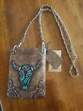 Genuine Leather Purse Leather Bling Chain Western Crossbody Bag