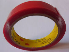 3M Car Trim Moulding Badge Tape TRANSPARENT Foam Adhesive Double Sided 2.5m/20mm