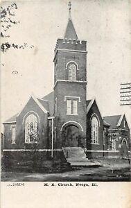 H71/ Neoga Illinois Postcard c1910 M.E. Church Building 202