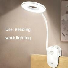 1Pcs  USB Clip LED Light Desk Table Reading Book Lamp Dimmable Touch Sensor