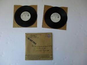 WWII US Serviceman Voice Recording 2 USO Records Mailer Inglewood CA YMCA WW2