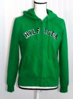 Tommy Hilfiger Women's Hoodie Size M Green Spell Out Letters Full Zipper L/S