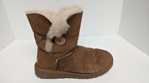 UGG Bailey Button II Boots, Chestnut Suede, Women's 8 M