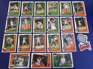 Panini 1987 Supersport Tennis Stickers All 21 Inc Rookie Steffi Graff & Becker